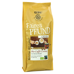 Gepa Faires Pfund ビオカフェ クレマ コーヒー豆 500g